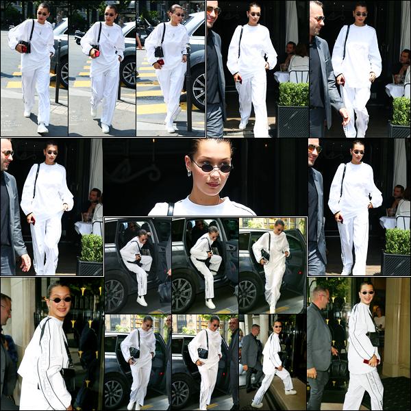 21.06.2017 ─ Bella Hadid a été photographiée arrivant, puis, quittant le restaurant « L'Avenue », étant, dans Paris.Un peu plus tard, Bella  a été photographiée arrivant à son hôtel... Concernant sa tenue c'est la même que celle à l'aéroport, mon avis est donc le même.