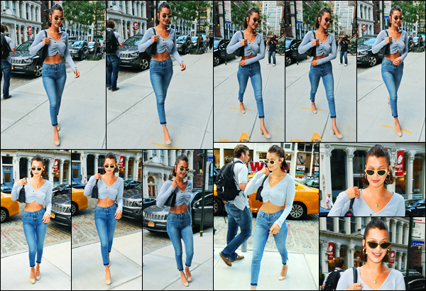 19.07.2017 ─ Bella Hadid a été photographiée alors qu'elle arrivait à  l'appartement de Gigi Hadid dans New-York.La belle mannequin n'arrête pas de sortir en ce moment, pas un seul jour de répis ! Concernant sa tenue, c'est un très beau top de ma part ! Vos avis ?