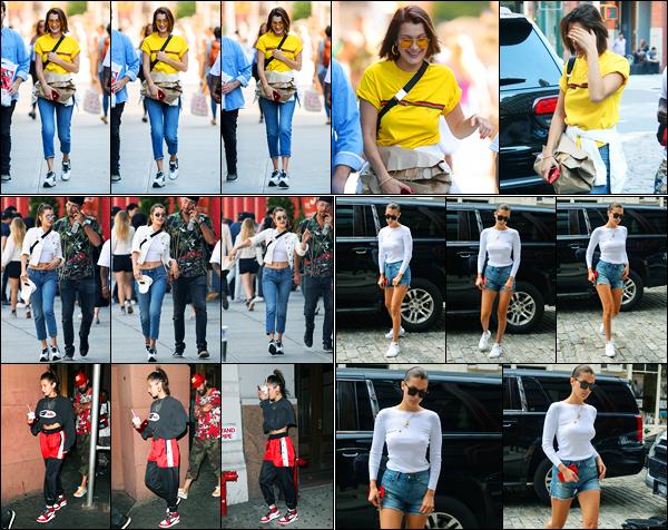 26.07.2017 ─ Bella Hadid a été photographiée alors qu'elle se promenait dans les rues avec ses amis à New-York.Etant en retard dans les news, je me permets de faire un article récapitulatif des dernières pour éviter tout retard à présent.. Merci de la compréhension..