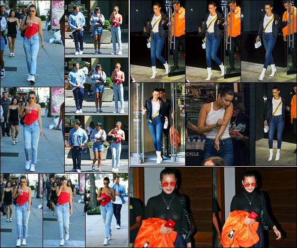 30.07.2017 ─ Bella Hadid a été photographiée alors qu'elle quittait le café « La colombe », étant à New-York City.Bella a été photographiée, la veille, dans les rues de New-York. Le lendemain, elle a été photographiée dans un salon de tatouage. Ses tenues sont top !