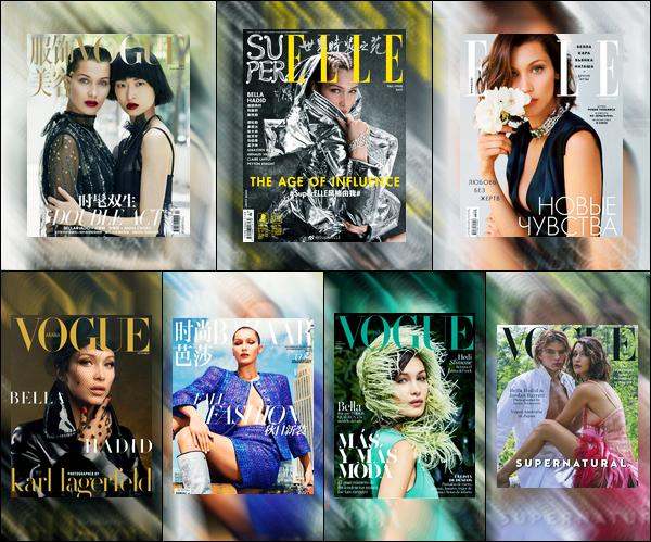 Bella Hadid fera sept couverture de magazine pour le mois de Septembre !