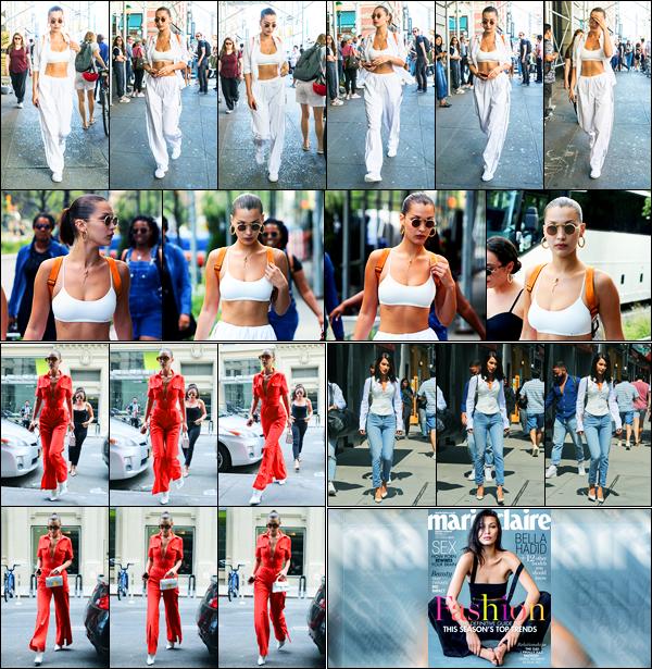 24.08.2017 ─ Bella Hadid a été photographiée alors qu'elle se promenait étant dans les rues étant à New-York C.La belle a été photographiée le lendemain et le surlendemain, dans les rues de New-York C. Découvrez aussi sa couverture de magazine de Marie Claire...