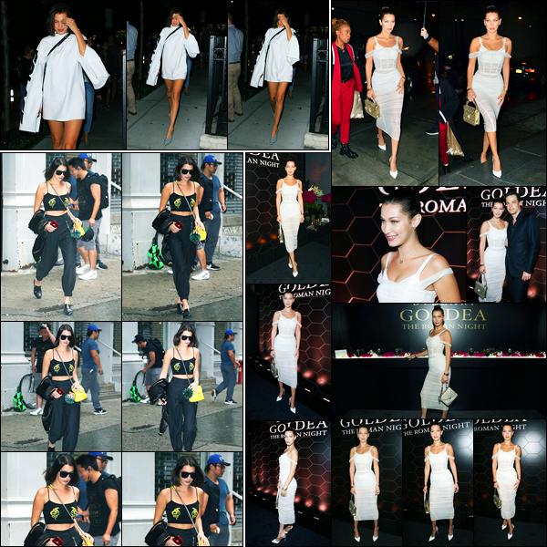 05.09.2017 ─ Tard le soir, Bella Hadid a été photographiée alors qu'elle se promenait, dans les rues, à New-York.Le lendemain, la belle a quittait les bureaux de « Marc Jacobs » et a était présente au lancement « The Roman Night ». Concernant ses tenues, des top !