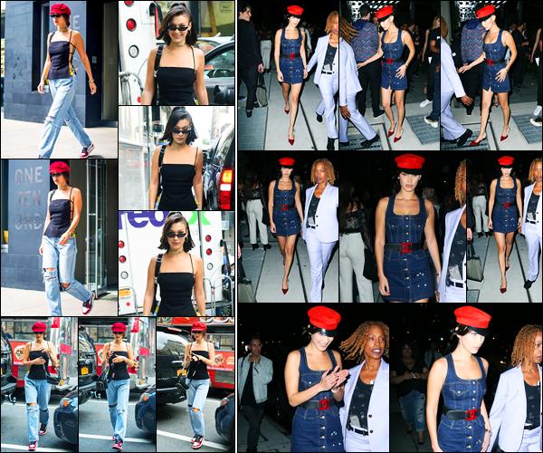07.09.2017 ─ Bella Hadid a été photographiée, alors, qu'elle se rendait à la boutique « Nike x Kith », à New-York.Dans la soirée, la belle BH a été photographiée quittant le lancement du livre « Mert & Marcus » dans New-York.. Concernant ses tenues, c'est des tops !