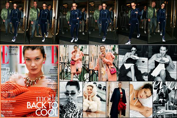 18.09.2017 ─ Bella Hadid a été photographiée alors qu'elle se promenait dans les rues étant dans Londres en UK.Evidemment, la belle s'est enfin rendue à Londres, sûrement pour la fashion week qui s'y déroule ! Concernant sa tenue, je suis pas du tout fan, c'est flop