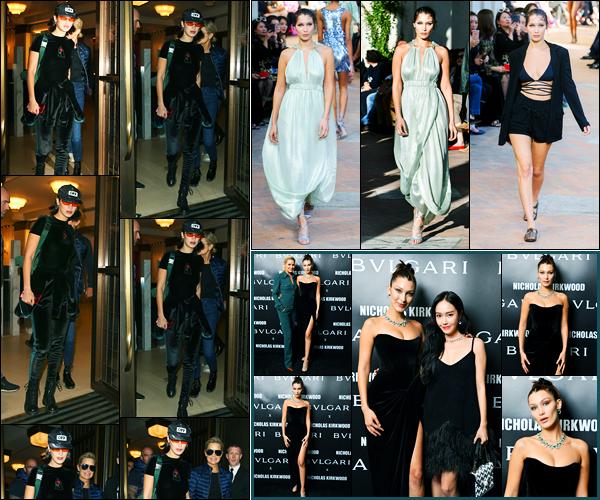 20.09.2017 ─ Bella Hadid a été photographiée, alors, qu'elle quittait son hôtel étant dans Londres, en Angleterre.La belle et sa famille, ont tous quitté Londres pour se rendre à la suite de la fashion week à Milan. Elle a défilé pour Alberta Ferretti. Sa tenue est un top !