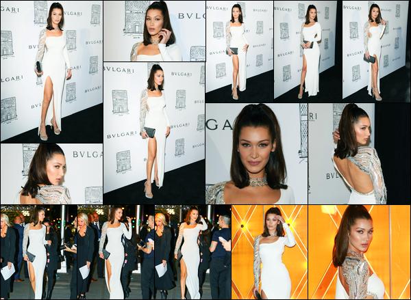 20.10.2017 ─ Bella Hadid était présente à la réouverture de la boutique « Bulgari Flagship », étant, à New-York C.La belle est de retour de la Corée du Sud où elle a assistait au lancement de l'exposition « Dior's : The Art of Color ». Concernant sa tenue, c'est un top !