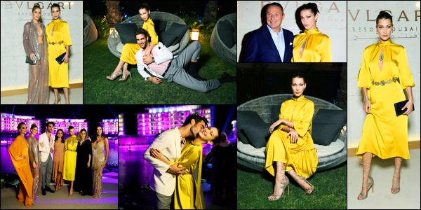 05.12.2017 ─ Bella Hadid était présente à l'ouverture de l'hôtel de luxe « Bulgari Dubai Resort » étant dans Dubaï.Très peu de photos sont disponible malheureusement, mais c'est mieux que rien du tout ! Concernant sa tenue, c'est un top de ma part personnellement