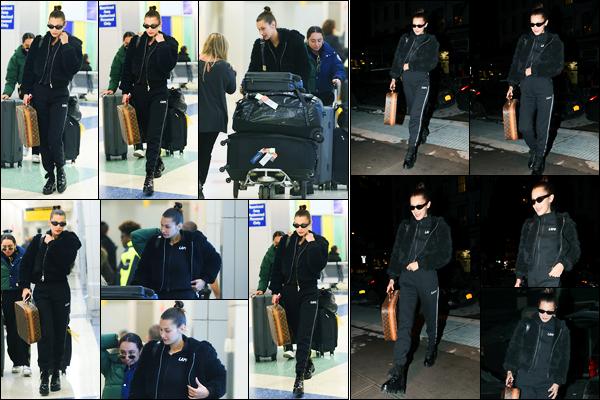 10.12.2017 ─ Bella Hadid a été photographiée, alors, qu'elle arrivait à l'aéroport de JFK étant dans New-York City.Après un court séjour à Londres, la belle BH a ensuite été photographiée alors qu'elle arrivait à son appartement à Manhattan. Sa tenue est un beau top !