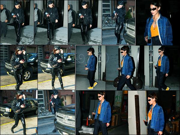 11.12.2017 ─ Bella Hadid a été photographiée alors qu'elle quittait son appartement dans Manhattan à New-York.C'est dans la soirée, que la belle BH a été photographiée avec son amie Hailey Baldwin alors qu'elle allait à un concert. Concernant la tenue, c'est un top !