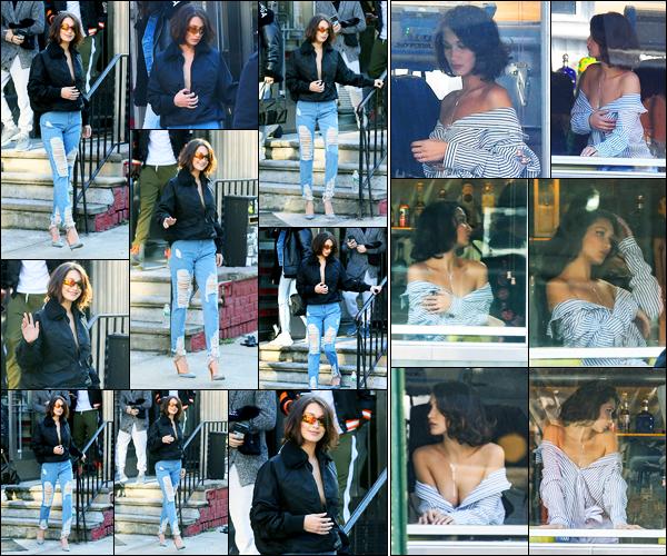 11.12.2017 ─ Bella Hadid a été photographiée, alors, qu'elle se rendait au restaurant « ACME », étant, à New-York.Juste avant, la belle mannequin a été photographiée, alors, qu'elle était sur le set d'un nouveau photoshoot ! Concernant sa tenue, c'est  top de ma part !