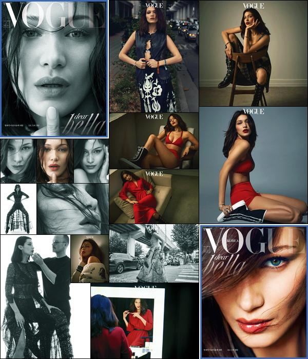 Bella fera la couverture du magazine « Vogue Korea » pour Janvier 2018 !