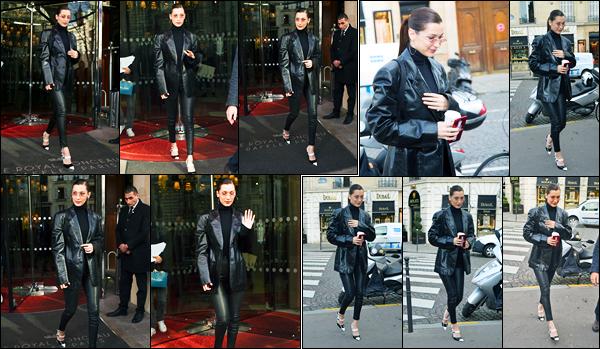 24.01.2018 ─ Bella Hadid a été photographiée, alors, qu'elle se rendait à la boutique « Bulgari », étant dans Paris.C'est en tant qu'égérie de la marque que la belle mannequin BH s'est rendue à une conférence de presse... Concernant sa tenue, c'est un très beau top !