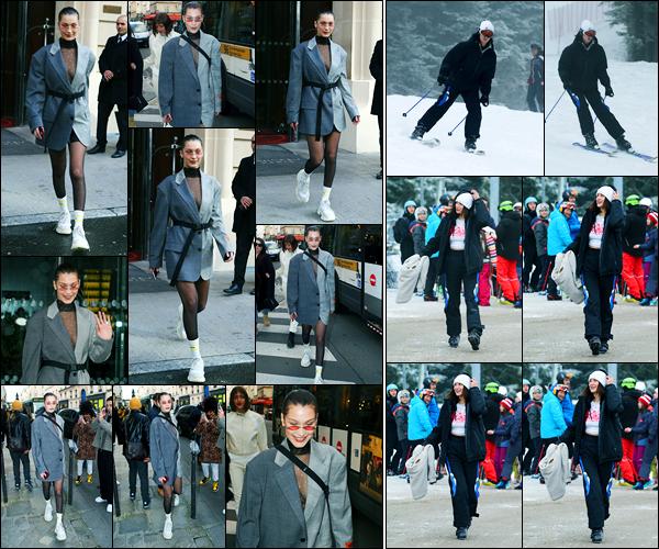 17.01.2018 ─ Bella Hadid a été photographiée, alors, qu'elle se rendait au « L'Art de l'Automobile », étant, à Paris.La veille, c'est en Suisse à Saint-Moritz que la belle s'est rendue pour faire un peu de ski ! Concernant sa tenue, c'est une combinaison de Ski quoi, bof...
