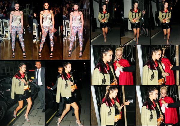21.09.2015 ─ Bella Hadid a été photographiée alors qu'elle arrivait à la soirée « Love Magazine », étant à Londres.Dans la journée, la belle mannequin Bella Hadid était présente lors du défilé GILES. Concernant les deux tenues de la belle B., c'est deux bofs de ma part.