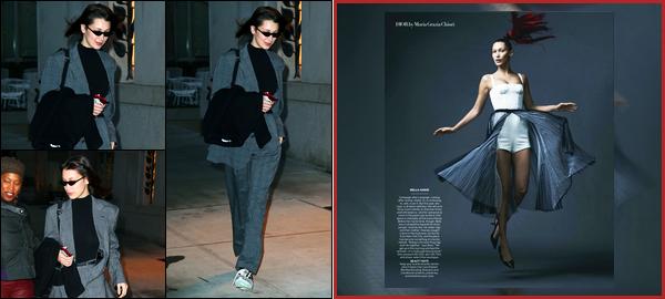 -15/02/2018- ─ Bella Hadid a été photographiée alors qu'elle déambuler dans les rues de la grande ville à New-York City !C'est tard le soir que nous retrouvons la belle dans les rues de la grande ville NYC. Découvrez également une photo pour Vogue USA pour le mois Mars.