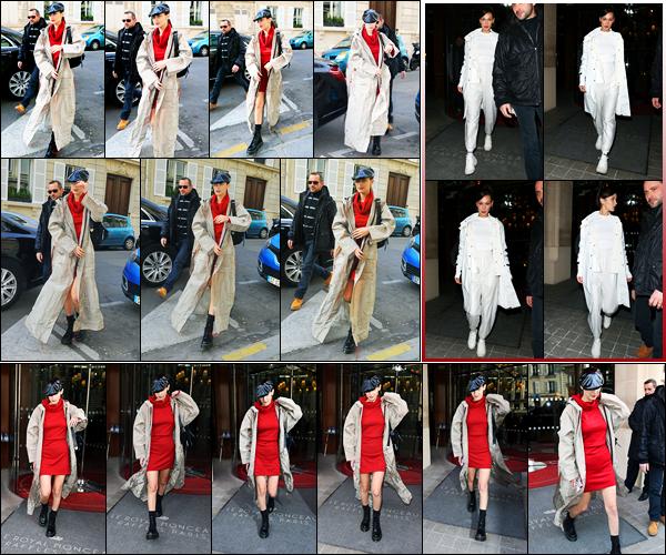 -28/02/2018- ─ Bella Hadid a été photographiée, alors, qu'elle quittait son hôtel Parisien dans les rues, étant, dans Paris !Plus tard dans la journée, la belle mannequin Bella a été photographiée arrivant aux bureaux de « Dior » puis la veille Bella a été vue quittant son hôtel...