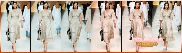 -22/02/2018- ─ Bella Hadid a été photographiée alors qu'elle arrivait au défilé de la marque « Fendi » de la FW18 à Milan.Visiblement pas de très bonne humeur, la belle mannequin a été photographiée tout en se cachant le visage... Concernant sa tenue, c'est un beau top !