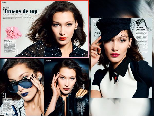 Bella Hadid apparaît dans le magazine « Cosmopolitan España » d'Avril 2018