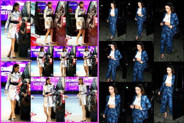 -14/03/2018- ─ Bella Hadid a été photographiée alors qu'elle arrivait au restaurant « Soho House », étant, à Beverly Hills.La mannequin a ensuite été photographiée alors qu'elle quittait le launch de « Dior Addict Lacquer Pump » dans West Hollywood ! Ses tenues sont tops.