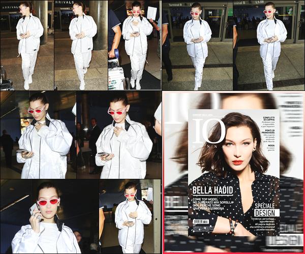 -12/04/2018- ─ Bella Hadid a été photographiée alors qu'elle arrivait à l'aéroport de « LAX », étant dans Los Angeles, CA !La belle mannequin Bella est donc rentrer à L.A sûrement pour Coachella ! Elle fait également la couverture de « IO ». Sa tenue est un bof pour ma part.