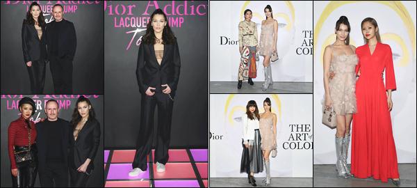 -10/04/2018- ─ Bella Hadid était présente à l'événement de la marque « Dior Addict Lacquer Plump » dans Tokyo, Japon !Le lendemain, la belle Bella était présente au « Dior's The Art of Color Press » toujours à Tokyo ! Concernant ses deux tenues, c'est deux tops de ma part