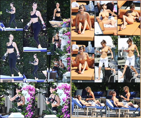 -29/04/2018- ─ Bella Hadid a été aperçue, alors, qu'elle faisait de la boxe avec Hailey Baldwin dans Miami Beach, Floride !Plus tard, et toujours en compagnie de Hailey, la belle brunette B. a été photographiée bronzant  sur un bateau à Miami Beach. Deux tops pour ma part !