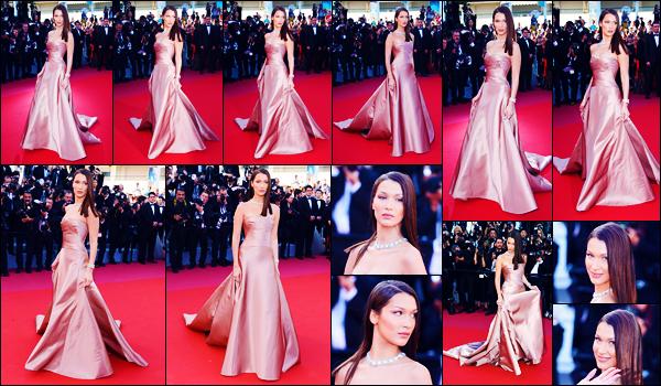 -11/05/2018- ─ Bella Hadid était présente lors de l'avant-première de « Ash Is Purest White », lors du festival de Cannes !La belle mannequin était vêtue par les marques Bulgari ainsi que Dior. Concernant la tenue de celle-ci, c'est un très jolie pour ma part pour Bella Hadid !