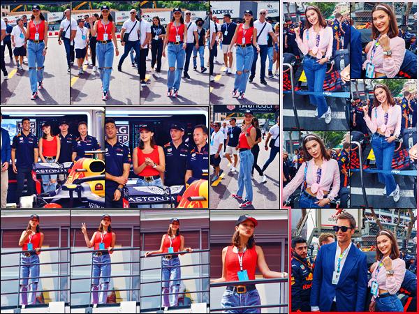 -27/05/2018- ─ Bella Hadid était présente au célèbre « Grand Prix Formule 1 », qui se déroulait, dans la ville de Monaco !La belle mannequin était donc bien présente lors de la course de Formule 1 comme prévue. Concernant sa tenue, c'est basique mais c'est un beau top !