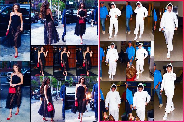 -07/06/2018- ─ Bella Hadid a été photographiée alors qu'elle quittait le « The Bowery Hotel » étant à la ville à New-York.La belle mannequin Bella H. a été photographiée la veille arrivant à l'aéroport de « Newark » étant dans le New Jersey ! Ses tenues sont des beaux tops.