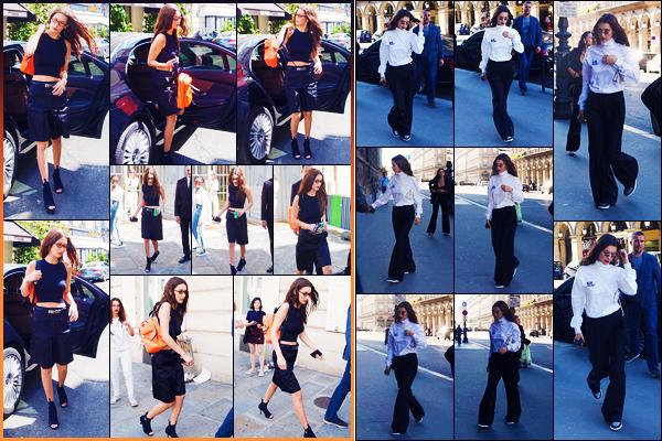 -22/06/2018- ─ Bella Hadid a été photographiée, alors, qu'elle arrivait aux bureaux de la marque « Chanel », dans Paris !La belle mannequin Bella H. a ensuite été photographiée, plus tard, arrivant au restaurant « Loulou » toujours à Paris ! Ses tenues sont de beaux tops !