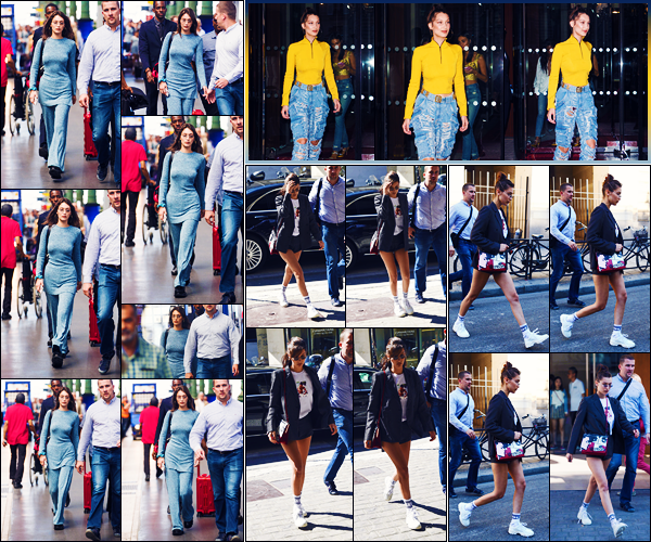 -20/06/2018- ─ Bella Hadid a été photographiée, alors, qu'elle arrivait à la « Gare du Nord », étant, dans Paris en France !La belle mannequin a ensuite été photographiée quittant son hôtel « Le Royal Monceau » puis quittant les bureaux de « Louis Vuitton »... C'est des tops !