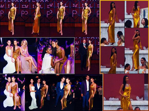 -28/06/2018- ─ Bella Hadid était présente lors de l'événement « Bvlgari's Wild Pop Gala Dinner », étant à Rome en Italie.La belle mannequin Bella Hadid est donc désormais de nouveau à Rome pour la marque Bvlgari ! Concernant sa tenue, c'est très jolie top pour ma part !