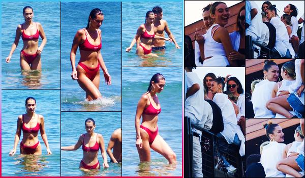 -04/07/2018- ─ Bella Hadid a été photographiée, alors, qu'elle se profitait - sous le soleil Californien -, étant, dans Malibu.La belle mannequin Bella a ensuite été photographiée alors qu'elle était au restaurant « Nobu » avec ses amies ! Concernant sa tenue, c'est un beau top !