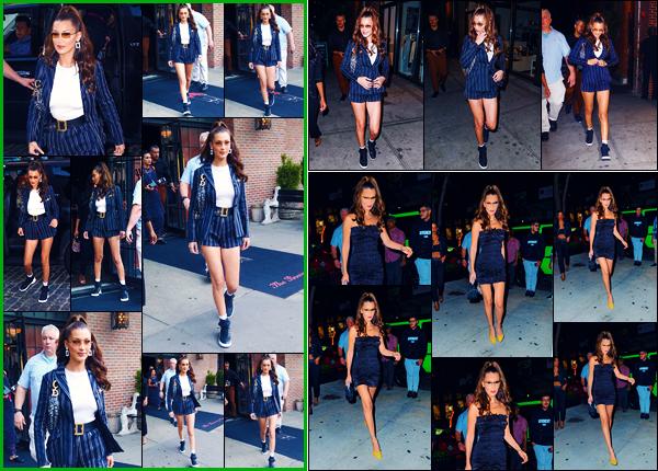 -05/09/2018- ─ Bella Hadid a été photographiée, alors, qu'elle quittait son hôtel « The Bowery Hotel » étant à New-York !Plus tard dans la journée, la belle a été photographiée arrivant chez « Sephora » puis le soir arrivant au restaurant « Cipriani ». Ses tenues ce sont tops !