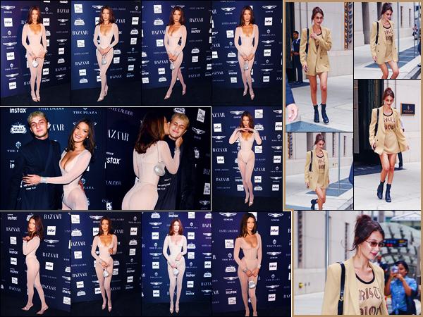 -07/09/2018- ─ Bella Hadid était présente lors de la soirée des « Harper's Bazaar Icons 2018 » qui avait lieu à New-York !Plus tôt dans la journée, notre jolie mannequin a été photographiée quittant un immeuble... Concernant ses deux tenues, ce sont des beaux tops de moi.