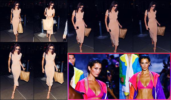 -09/09/2018- ─ Bella Hadid a été photographiée, alors, qu'elle se promenait dans les rues dans la ville dans New-York C. !La belle mannequin B. a également défilé pour « Prabal Gurung » durant la fashion week... Concernant ses tenues, ce sont des petits tops pour ma part.