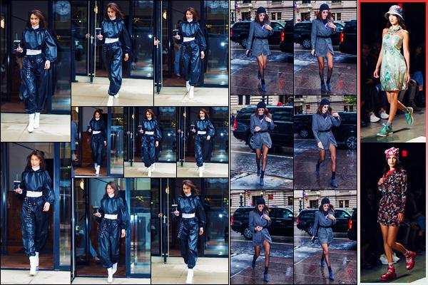 -09/09/2018- ─ Bella Hadid a été photographiée, alors, qu'elle quittait son appartement, qui se situait dans - Manhattan !La belle mannequin a été photographiée arrivant au défilé de « Anna Sui » pour la FW19 où elle a défilée. Concernant ses tenues, ce sont des petit tops !