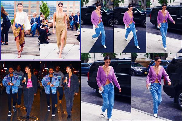 -11/09/2018- ─ Bella Hadid a été photographiée, alors, qu'elle arrivait à son appartement, qui se situait, dans Manhattan !La belle mannequin Bella a défilé pour « Oscar de la Renta » pour la FW puis elle a été vue avec Abel mangeant une glace. Des petits tops pour ma part.