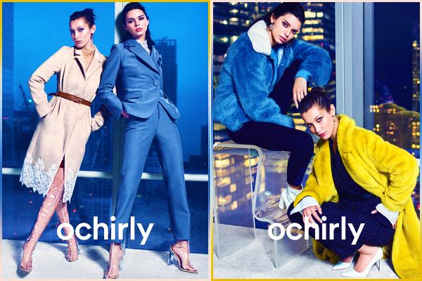 Bella a poser pour la collection d'hiver « Orchily » en compagnie de Kendall !
