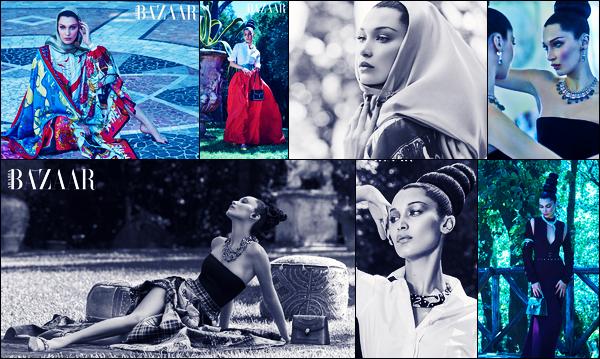 Bella H. fait la couverture de « Harper's Bazaar Arabia » du mois d'Octobre !