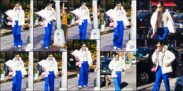 -16/11/2018- ─ Bella Hadid a été photographiée, alors, qu'elle se promenait dans les rues dans la ville, étant, à New-York.La belle mannequin B. faisait quelques achat dans un magasin de décoration, sûrement pour Noël ! Concernant sa tenue, je ne suis pas fan, c'est un flop.