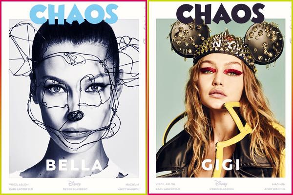 - '-● PHOTOSHOOT- Bella Hadid a posée pour le magazine « Chaos The Disney Issue » avec Gigi. -