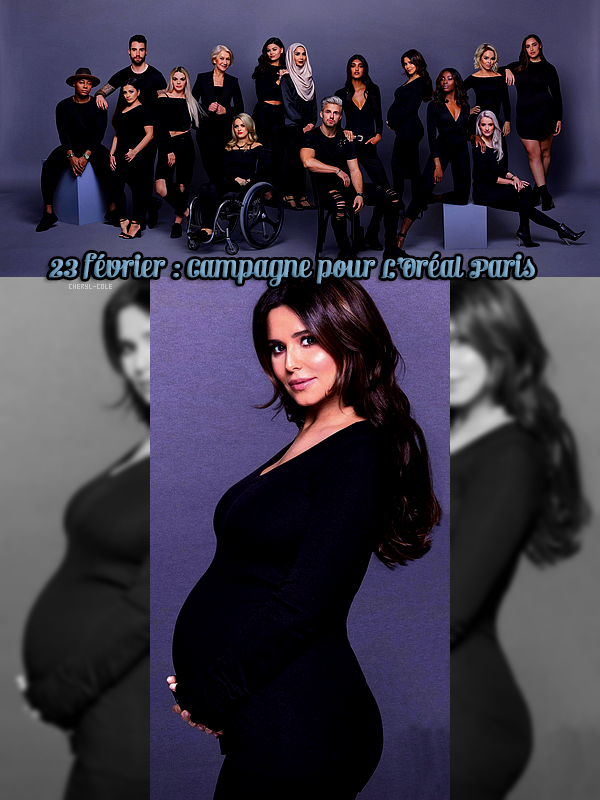"""23/02/17 : Cheryl pose pour la campagne """"L'Oreal Paris"""" et devient l'une des 15 ambassadrisses de la marque"""