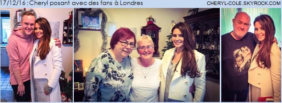 17/12/16 : Cheryl à Londres