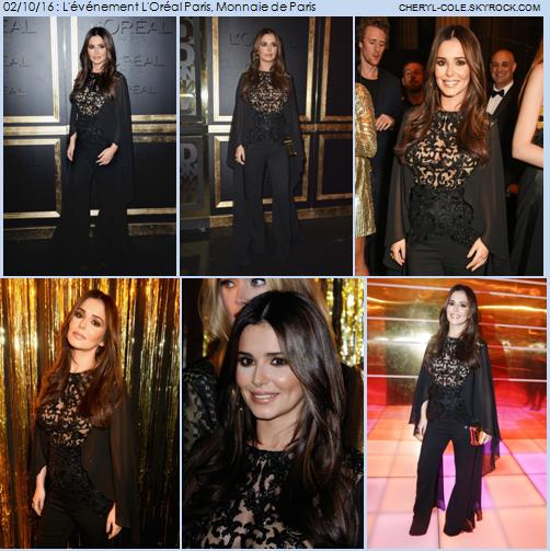 02/10/16 : Cheryl à L'Oréal Paris