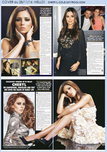 """COVER : Cheryl dans le magazine britannique """"Hello!"""""""