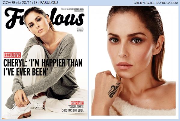 COVER : Cheryl pose pour Fabulous en Novembre 2016