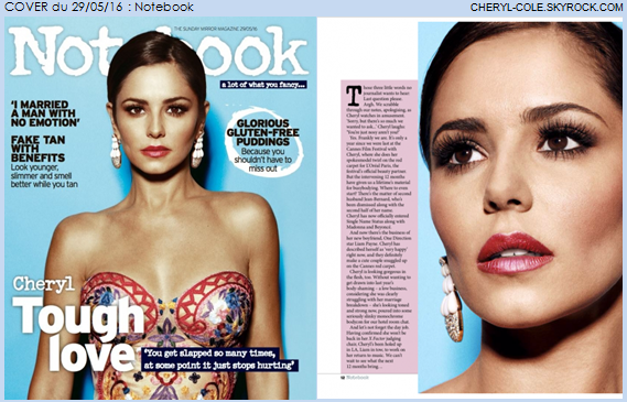 . COVER : Cheryl pose pour Notebook en Mai 2016          .
