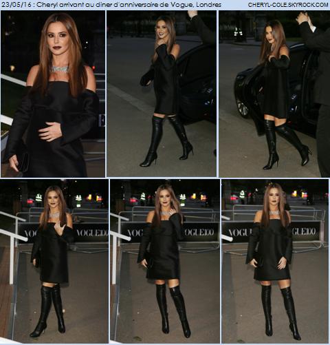23/05/16 : Soirée dîner d'anniversaire de Vogue à Londres